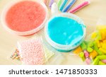 how to make fluffy slime at home | Shutterstock . vector #1471850333