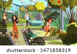 public orangery flat vector... | Shutterstock .eps vector #1471858319