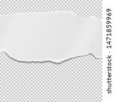 piece of torn black paper strip ...   Shutterstock .eps vector #1471859969