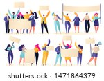 set of different protesting... | Shutterstock .eps vector #1471864379