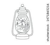 vector liear icon or logo... | Shutterstock .eps vector #1471865216