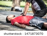 Asian male runner recurrent heart attack while exercising.