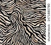 Seamless Zebra Skin Pattern....