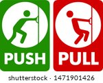 pull and push to open. vector... | Shutterstock .eps vector #1471901426