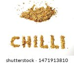chilli written with chilli... | Shutterstock . vector #1471913810
