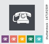 vintage phone flat icon. vector ... | Shutterstock .eps vector #147192509