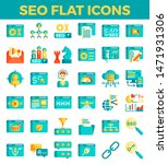 seo search engine optimization... | Shutterstock .eps vector #1471931306
