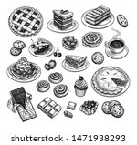 collection of sweets and... | Shutterstock .eps vector #1471938293