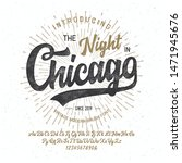 """""""the Night In Chicago"""". Vintage ..."""