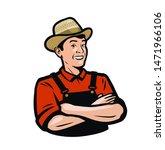 farmer portrait  organic... | Shutterstock .eps vector #1471966106
