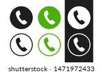 phone vector icon. handset...