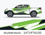 truck decal wrap design vector. ... | Shutterstock .eps vector #1471976150