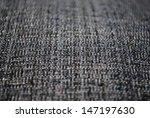 Gray fabric texture macro detail background horizontal - stock photo