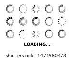 loading icon set isolated on...