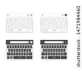 vector illustration keyboard of ...