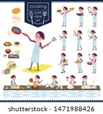 a set of women about cooking... | Shutterstock .eps vector #1471988426