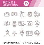 business marketing icons. set...