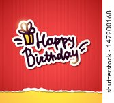 happy birthday  handwriting... | Shutterstock .eps vector #147200168