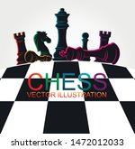chess colorful figures pieces... | Shutterstock .eps vector #1472012033