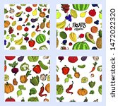 big set of fruits and... | Shutterstock .eps vector #1472022320