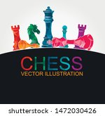 chess colorful figures pieces... | Shutterstock .eps vector #1472030426
