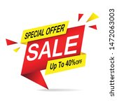 special offer sale tag banner   ... | Shutterstock .eps vector #1472063003