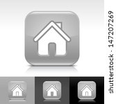 house icon set. gray glossy web ...