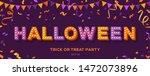 happy halloween card or banner... | Shutterstock .eps vector #1472073896