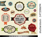 set of stickers  labels and... | Shutterstock .eps vector #147208694