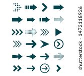 arrows big black set icons. | Shutterstock .eps vector #1472118926