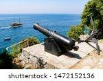 Old cannon in rovinj  croatia...
