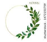 modern botanical greenery frame.... | Shutterstock . vector #1472153759