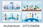 family daily activities and... | Shutterstock .eps vector #1472156006
