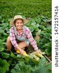 cute girl in wearing hat... | Shutterstock . vector #1472157416
