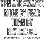 men are swayed more by fear... | Shutterstock .eps vector #1472169926
