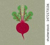 beetroot illustration. red... | Shutterstock .eps vector #1472173136