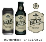 vector label for craft beer in... | Shutterstock .eps vector #1472173523