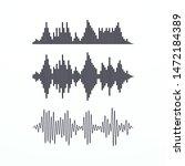 black sound waves. volume level ...