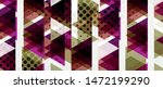 banner with multicolored mosaic ... | Shutterstock .eps vector #1472199290