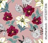 watercolor seamless pattern.... | Shutterstock . vector #1472207336