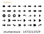 arrow vector icon isolated set... | Shutterstock .eps vector #1472212529