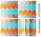 abstract triangle background set | Shutterstock .eps vector #147222248