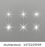 white glowing light explodes on ... | Shutterstock .eps vector #1472225939