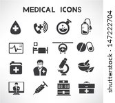medical icons set | Shutterstock .eps vector #147222704