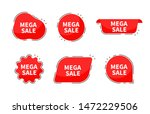 mega sale collection tags.... | Shutterstock .eps vector #1472229506