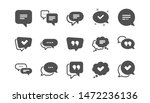 chat and quote icons. approved  ... | Shutterstock .eps vector #1472236136