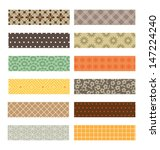 set of colorful craft tape with ... | Shutterstock .eps vector #147224240
