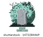 happy halloween. icon with the... | Shutterstock .eps vector #1472284469