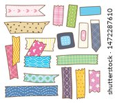 washi tape doodle isolated on... | Shutterstock .eps vector #1472287610