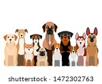 large group of brownish dogs | Shutterstock .eps vector #1472302763